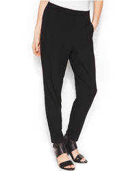 Eileen Fisher System Stretch Jersey Pull On Slouchy Ankle Pants Regular Petite