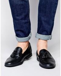 Asos Tassel Loafers In Black
