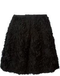 Edward achour paris rose textured a line skirt medium 216321