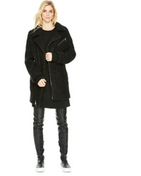 DKNY Textured Boucle Coat