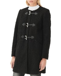 Sandro Marotte Textured Toggle Coat