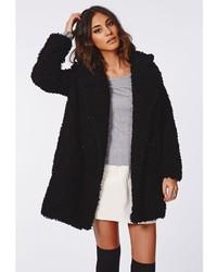 recognized brands new specials excellent quality Missguided Celine Teddy Faux Fur Coat Black, $109 ...