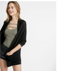 Express Textured Drop Shoulder Open Cover Up