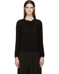 Comme des garons black textured sweater medium 527105