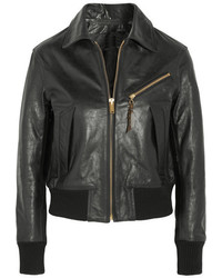 Golden Goose Deluxe Brand Textured Leather Jacket Black