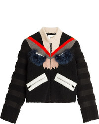 Fendi Textured Leather Jacket