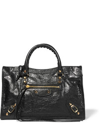 Balenciaga Classic City Small Textured Leather Tote Black
