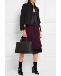 c9e1a007fc24 ... Prada Galleria Large Textured Leather Tote Black
