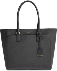 Kate Spade New York Cameron Street Havana Textured Leather Tote Black