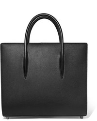 Christian Louboutin Paloma Large Textured And Patent Leather Tote Black