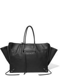 Balenciaga Paper Za A4 Textured Leather Tote Black