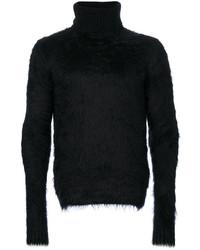 Textured roll neck jumper medium 3993552