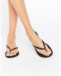 Havaianas Black Slim Flip Flops