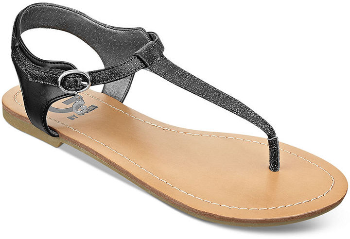 7981d0b9f3e3 ... G by Guess Luzter T Strap Flat Thong Sandals ...