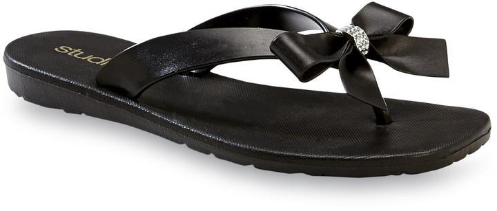 0bc49933286e9 $6, Studio S Rhinestone Bow Flip Flops