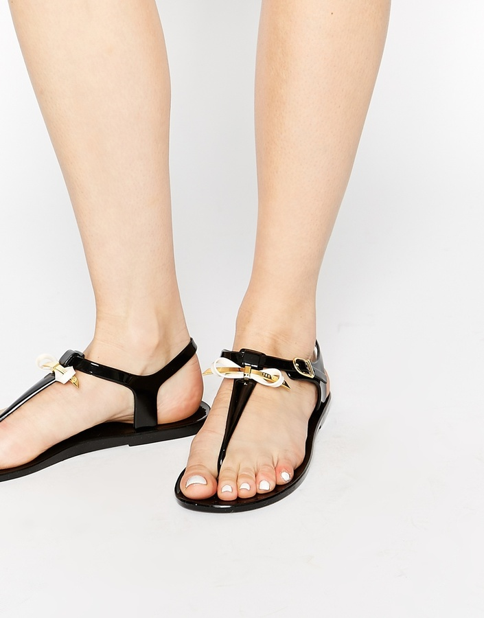 c477b0a3b730 ... Ted Baker Verona Jelly Flip Flops With Bow ...