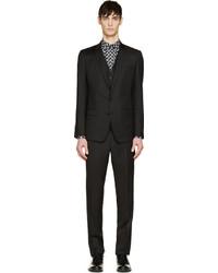 Dolce & Gabbana Black Martini Three Piece Suit