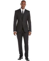 Dolce & Gabbana Black Pinstripe Wool Three Piece Martini Suit