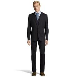 Dolce & Gabbana Black Stretch Virgin Wool Blend 2 Button Martini 3 Piece Suit