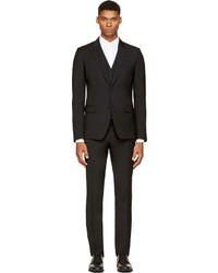 Dolce & Gabbana Black Wool Sexy Knight Three Piece Tuxedo