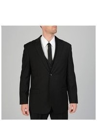 Caravelli 3 Piece Black Vested Suit
