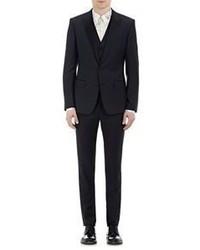 Dolce & Gabbana Gabardine Three Piece Martini Tuxedo Navy