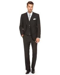Hugo Boss Jamessharp We Regular Fit Super 100 Virgin Wool Suit Black