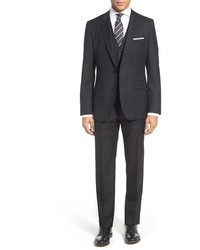 BOSS Johnstonslenon We Trim Fit Three Piece Plaid Wool Suit