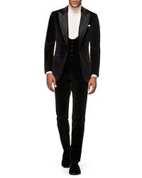 Suitsupply Slim Fit Velve Three Piece Tuxedo