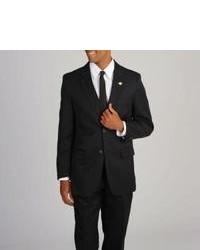 Stacy Adams Solid Black 3 Piece Suit