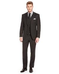 Hugo Boss The Jamessharp We Regular Fit Stretch Virgin Wool 3 Piece Suit Black