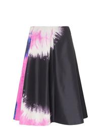 Prada Tie Dye Faille A Line Skirt