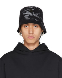A-Cold-Wall* Black Splatter Diamond Bucket Hat