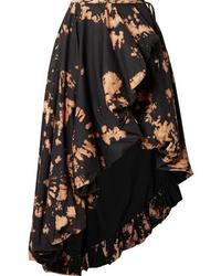 MARQUES ALMEIDA Asymmetric Tie Dyed Cotton Wrap Midi Skirt