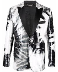 Philipp Plein Paillettes Tie Dye Sequin Blazer