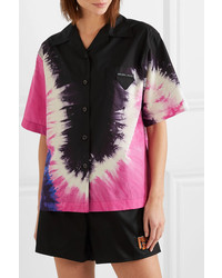 Prada Tie Dyed Cotton Poplin Shirt