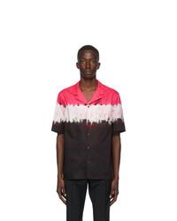 Valentino Black And Pink Tie Dye Shirt