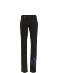 Black Tie-Dye Skinny Jeans