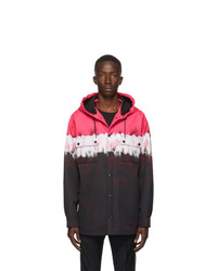 Valentino Black And Pink Tie Dye Jacket
