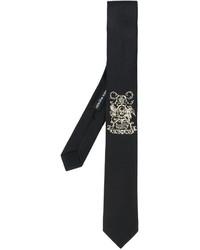 Alexander McQueen Insignia Embroidered Tie