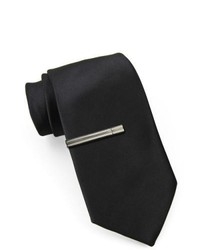 JF J.Ferrar Jf J Ferrar Slim Tie With Tie Bar Black