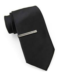 JF J.Ferrar Jf J Ferrar Slim Tie With Tie Bar