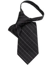 Calvin Klein Little Boys Etched Grid Zipper Tie