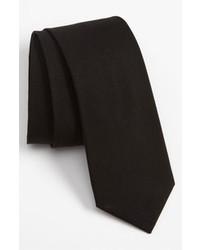 The Tie Bar Woven Cotton Tie Black Regular