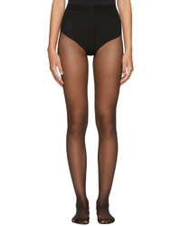 Wolford Black Individual 10 Back Seam Tights