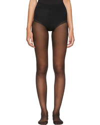 Wolford Black Seamless Pure 10 Tights