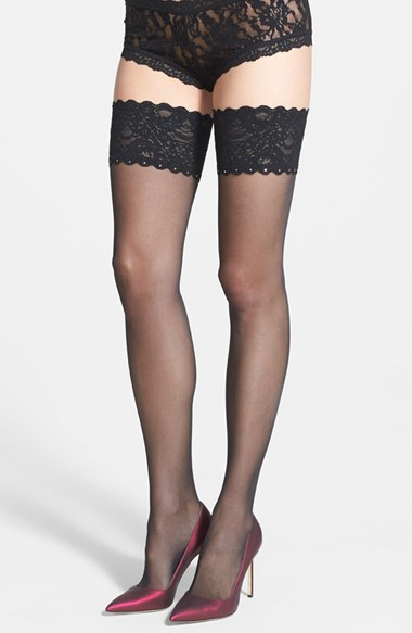ed1f0909e ... Wolford Embellished Thigh High Tights ...