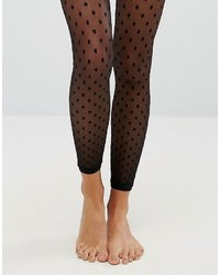 Asos Mesh Dot Footless Tights
