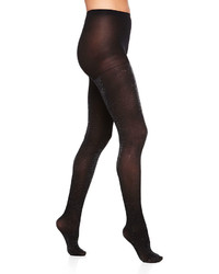 Neiman Marcus Metallic Tights Black