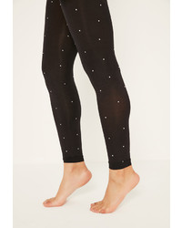 Missguided Black 80 Denier Diamante Tights